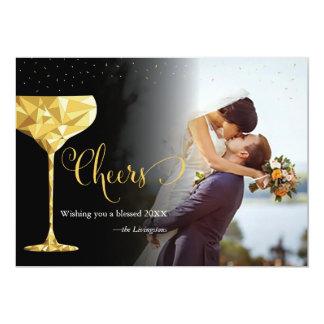 """Tarjeta de felicitación de la foto del Año Nuevo Invitación 5"""" X 7"""""""