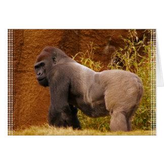 Tarjeta de felicitación de la foto del gorila del