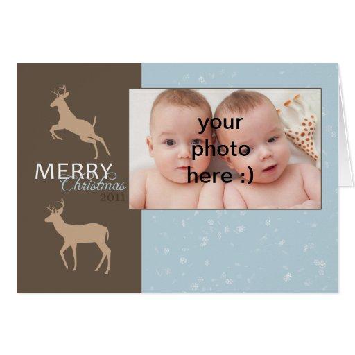 tarjeta de felicitación de la foto del navidad con