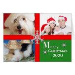 Tarjeta de felicitación de la foto del navidad - f