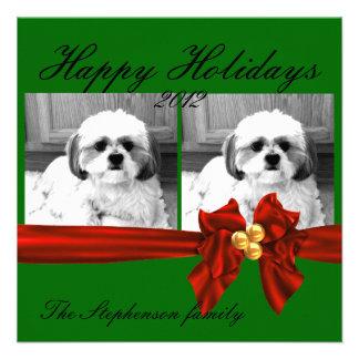 tarjeta de felicitación de la foto del navidad comunicado