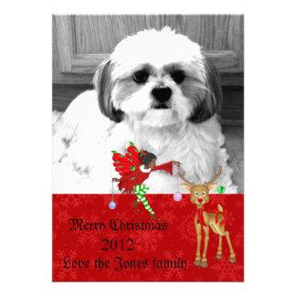 tarjeta de felicitación de la foto del navidad anuncio personalizado