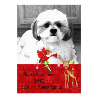 tarjeta de felicitación de la foto del navidad invitación