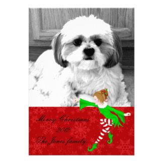 tarjeta de felicitación de la foto del navidad invitaciones personalizada