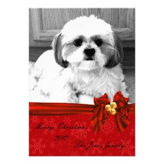 tarjeta de felicitación de la foto del navidad anuncios personalizados