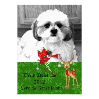 tarjeta de felicitación de la foto del navidad anuncio