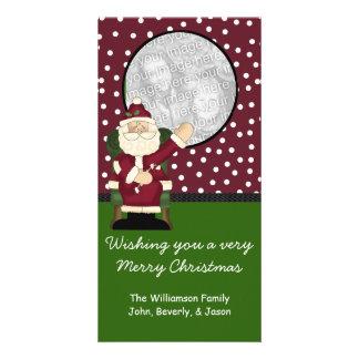 Tarjeta de felicitación de la foto del navidad tarjeta fotografica