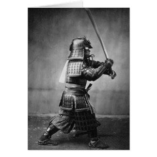 Tarjeta de felicitación de la foto del samurai del