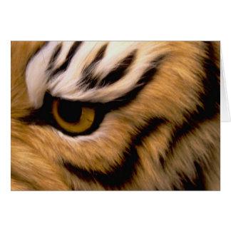 Tarjeta de felicitación de la foto del tigre