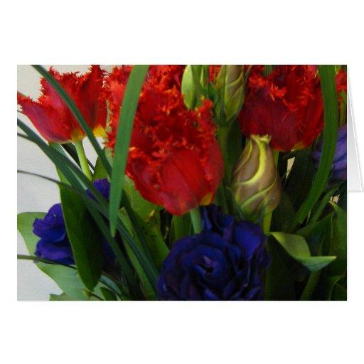 Tarjeta de felicitación de la galería del tulipán