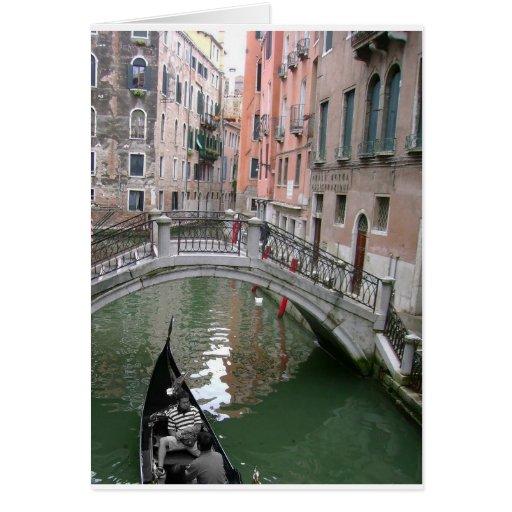 Tarjeta de felicitación de la góndola de Venecia