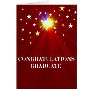 Tarjeta de felicitación de la graduación de las es