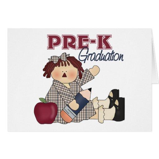 Tarjeta de felicitación de la graduación de Pre-K