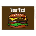 Tarjeta de felicitación de la hamburguesa