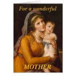 Tarjeta de felicitación de la hija de la madre y d