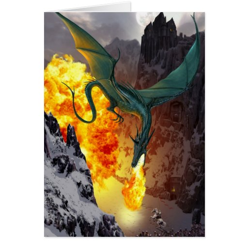 Tarjeta de felicitación de la huelga del dragón