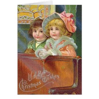 Tarjeta de felicitación de la iglesia del navidad