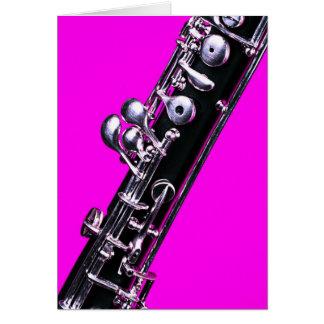 Tarjeta de felicitación de la imagen de Oboe hecha