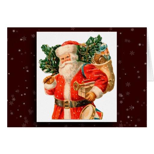 Tarjeta de felicitación de la imagen de Papá Noel