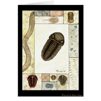 Tarjeta de felicitación de la impresión del arte -