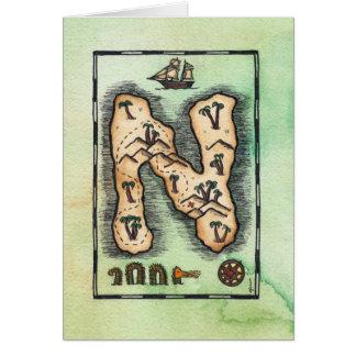 Tarjeta de felicitación de la isla del tesoro del