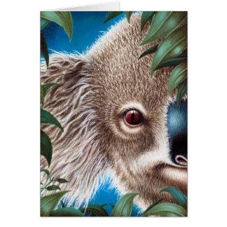 Tarjeta de felicitación de la koala
