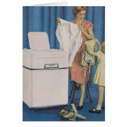 Tarjeta de felicitación de la lavadora