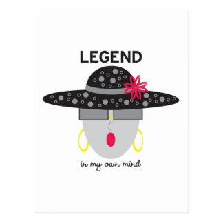 "Tarjeta de felicitación de la ""leyenda"" de tarjeta postal"