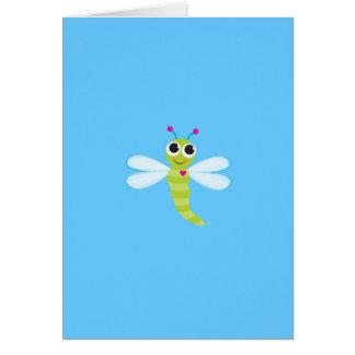 Tarjeta de felicitación de la libélula