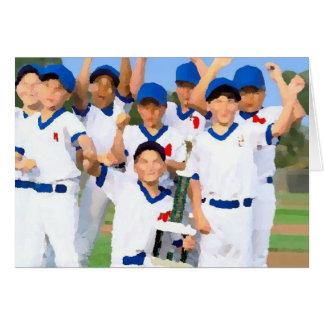 Tarjeta de felicitación de la liga pequeña
