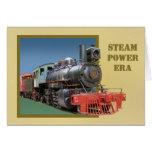 tarjeta de felicitación de la locomotora de vapor