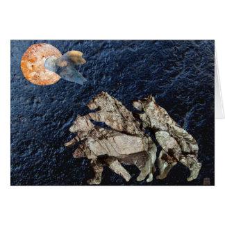 Tarjeta de felicitación de la luna de la mandarina