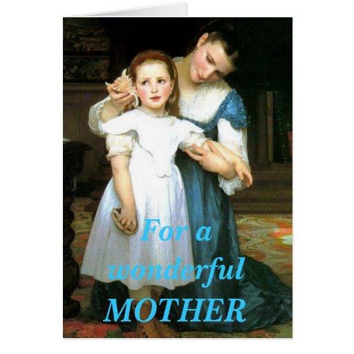 Tarjeta de felicitación de la madre y de la hija d