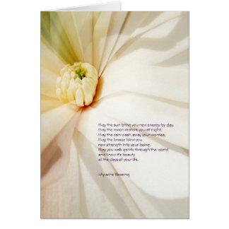 Tarjeta de felicitación de la magnolia de la bendi