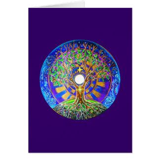 Tarjeta de felicitación de la mandala de la Luna L