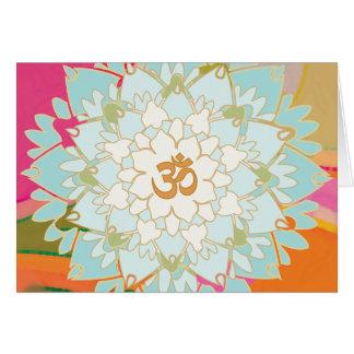 Tarjeta de felicitación de la mandala de Lotus