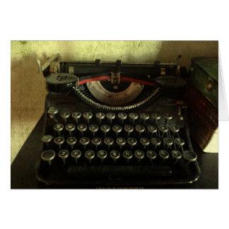 Tarjeta de felicitación de la máquina de escribir