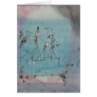 Tarjeta de felicitación de la máquina de Paul Klee