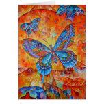 Tarjeta de felicitación de la mariposa