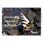 Tarjeta de felicitación de la mariposa 1 de Swallo