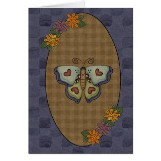 Tarjeta de felicitación de la mariposa de la colec