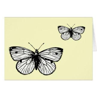 Tarjeta de felicitación de la mariposa de Rapae de