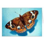 Tarjeta de felicitación de la mariposa del castaño