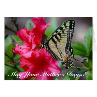 Tarjeta de felicitación de la mariposa del día de