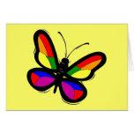 Tarjeta de felicitación de la mariposa del orgullo
