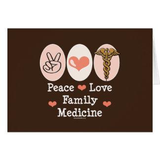 Tarjeta de felicitación de la medicina de familia