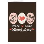Tarjeta de felicitación de la microbiología del am
