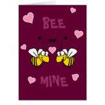 Tarjeta de felicitación de la mina de la abeja