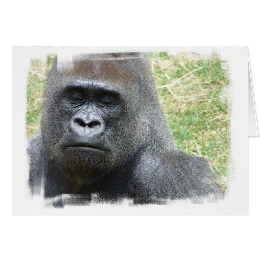 Tarjeta de felicitación de la mirada del gorila
