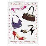 tarjeta de felicitación de la moda del feliz cumpl